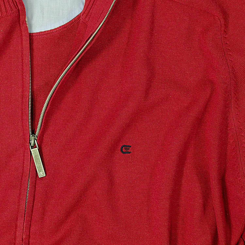 Image de détail de Veste en tricot rouge uni de Casamoda grandes tailles jusqu'au 6XL