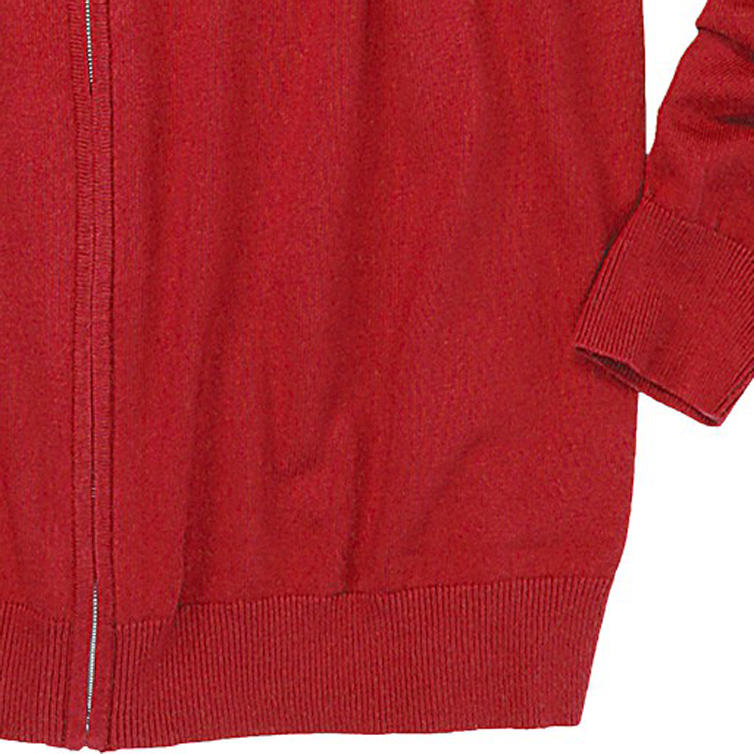 Detail Image to Red uni cardigan by Casamoda in oversizes up to 6XL