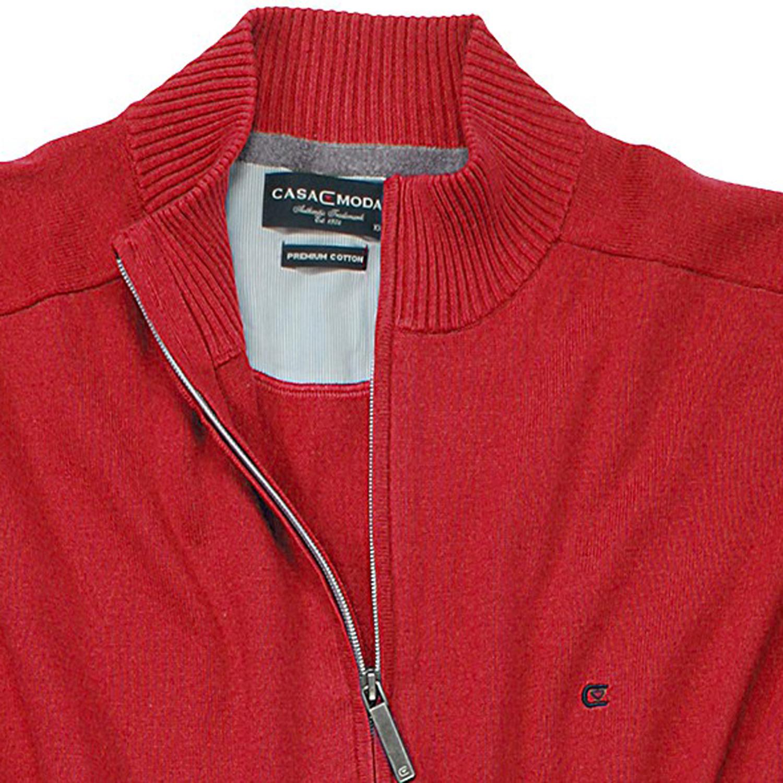 Detailbild zu Rote Uni Strickjacke von Casamoda in großen Größen bis 6XL