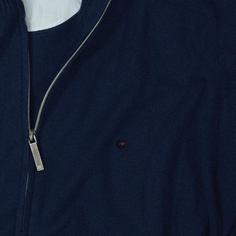Detailbild zu Blaue uni Strickjacke von Casamoda in großen Größen bis 6XL