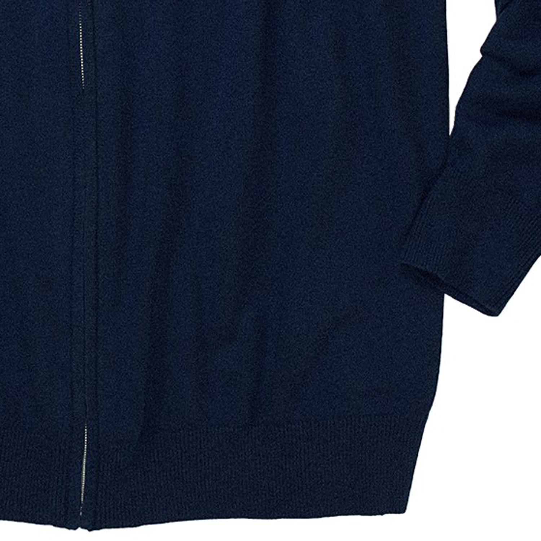 Image de détail de Gilet zippé bleu de Casamoda grande taille jusqu'au 6XL