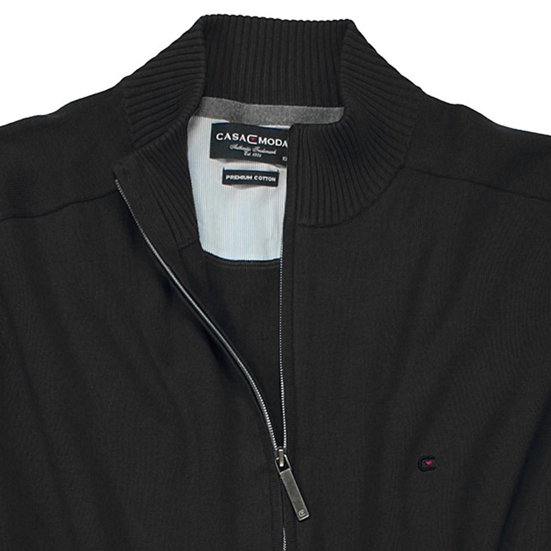 Detailbild zu Schwarze Strickjacke von Casamoda in großen Größen bis 6XL