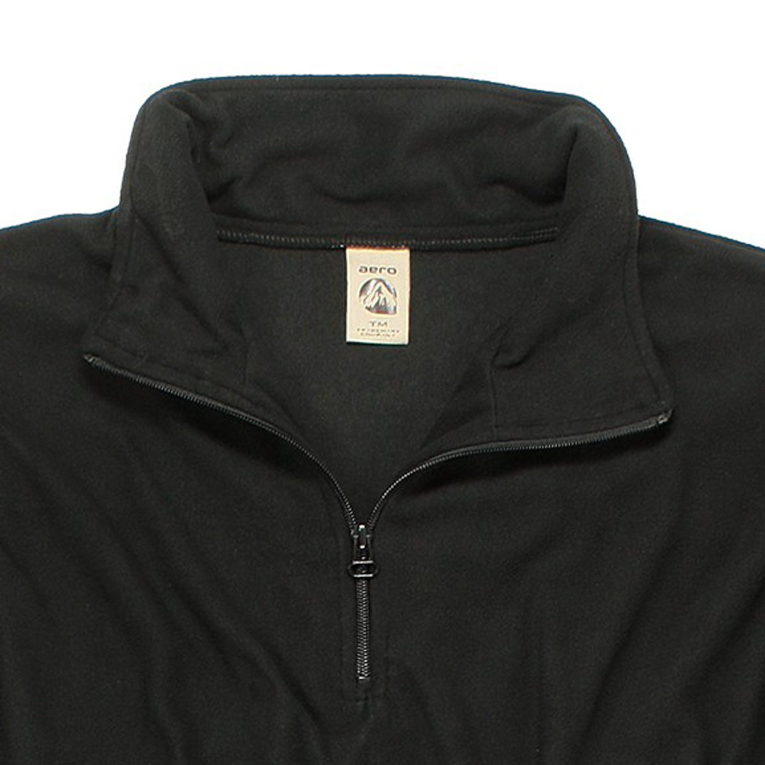 Detail Image to Black Fleece Pullover by Aero in plus sizes up to 8XL