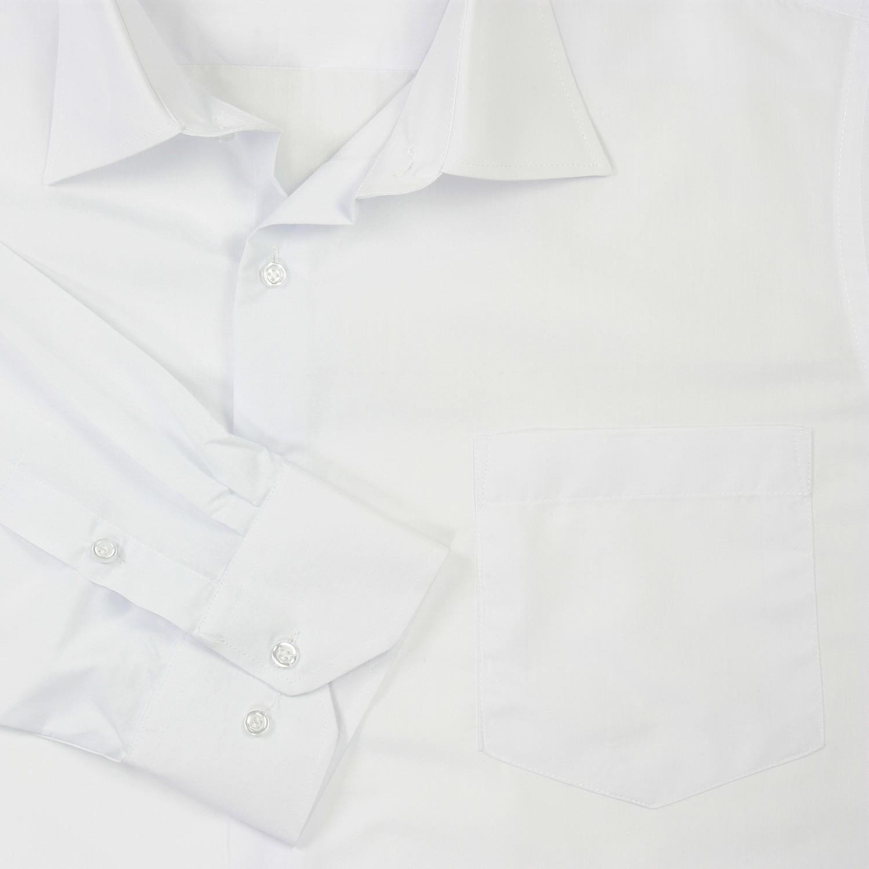 Image de détail de Chemise blanche (manches longues) de Lavecchia grandes tailles jusqu'au 7XL