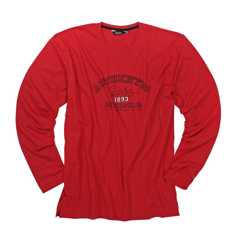 Detailbild zu Rotes Longsleeve von Ceceba in Übergrößen bis 10XL