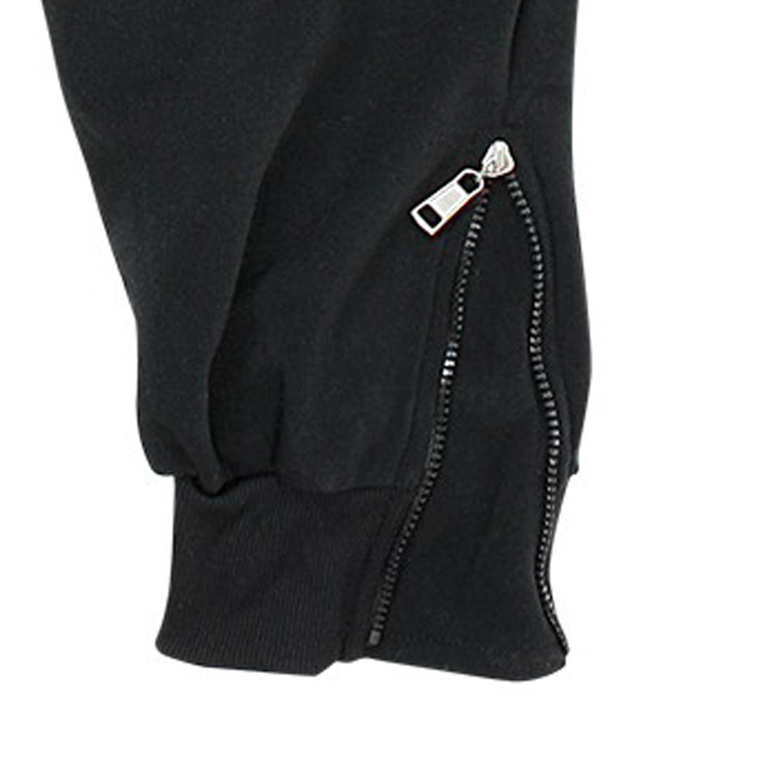 Image de détail de Pantalon de jogging noir de Lavecchia grande taille jusqu'au 8XL