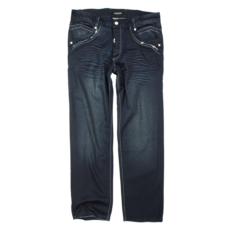 Detailbild zu Dunkelblaue Jeans von Lavecchia in großen Größen bis 52