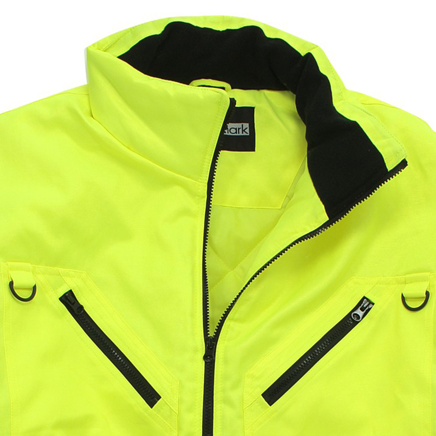 Detail Image to Working jacket in day-glo yellow by marc&mark in extra large sizes up to 10XL