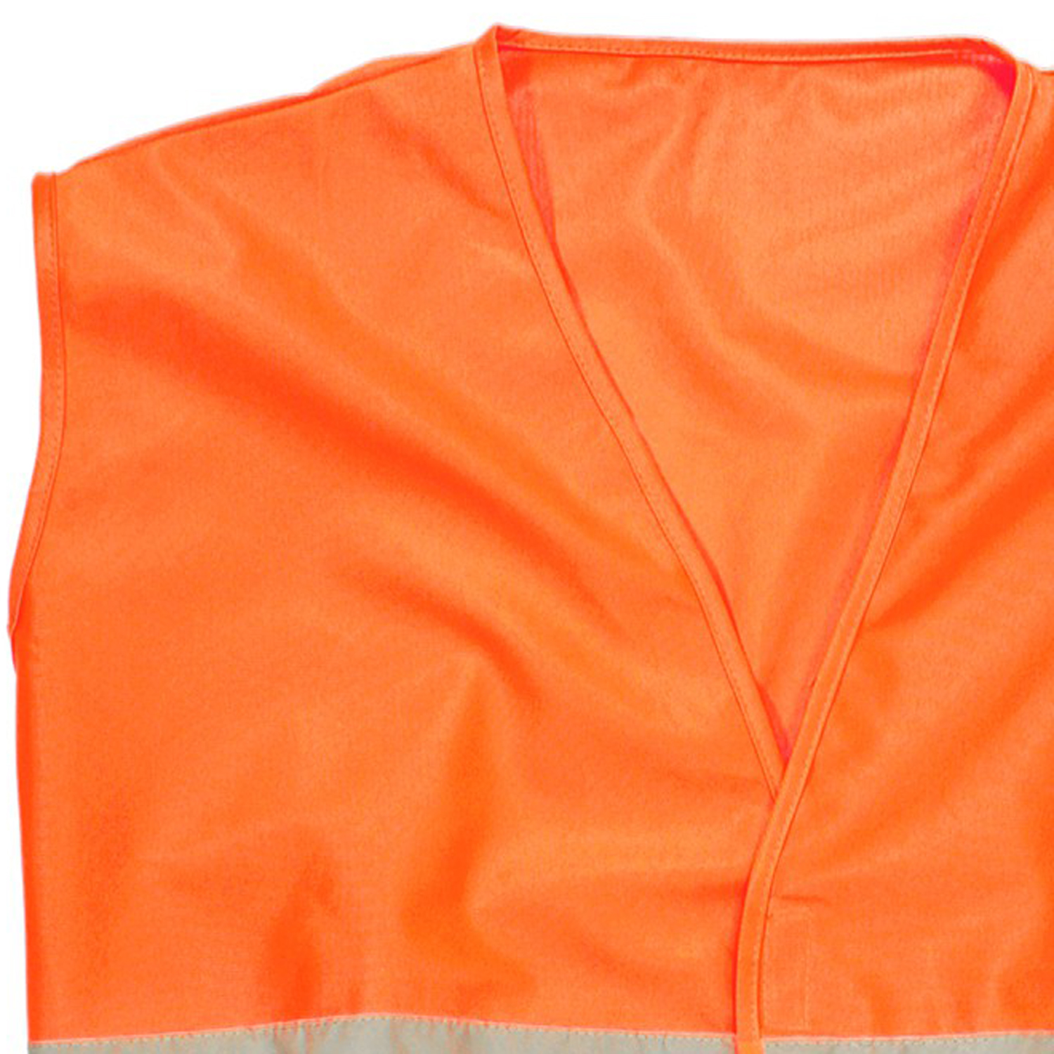 Detail Image to Warning vest in orange by Marc&Mark in oversizes up to 10XL