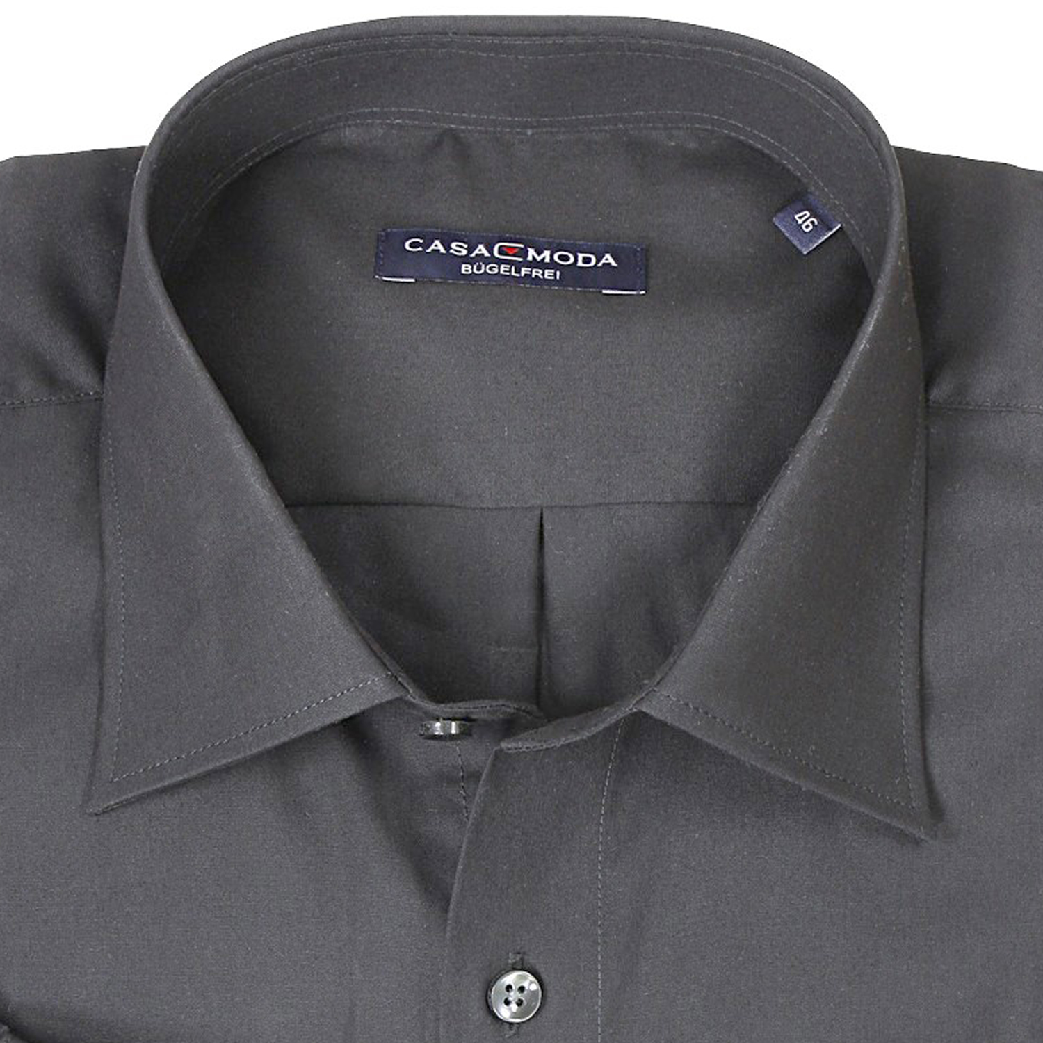 Detail Image to Gray shirt by Casamoda in plus size up to 7XL