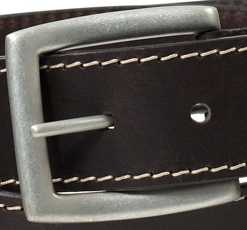 Detail Image to Belt by Lindenmann - darkbrown- 150 cm - 100% lether