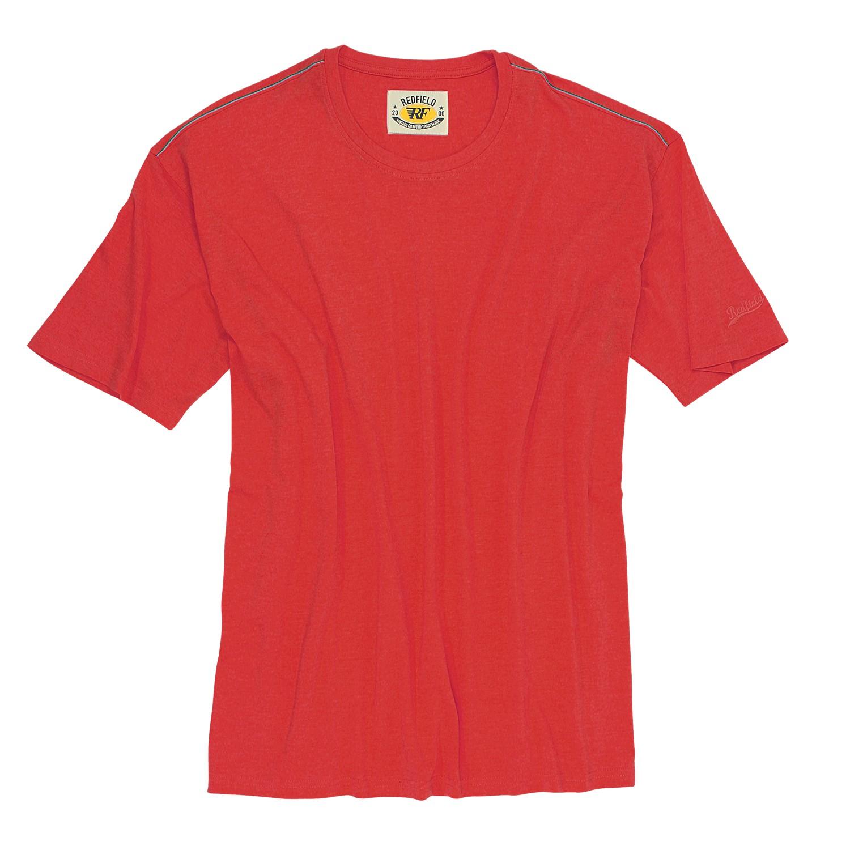 Image de détail de T-shirt rouge col rond -Redfield- grandes tailles jusqu'au 8XL