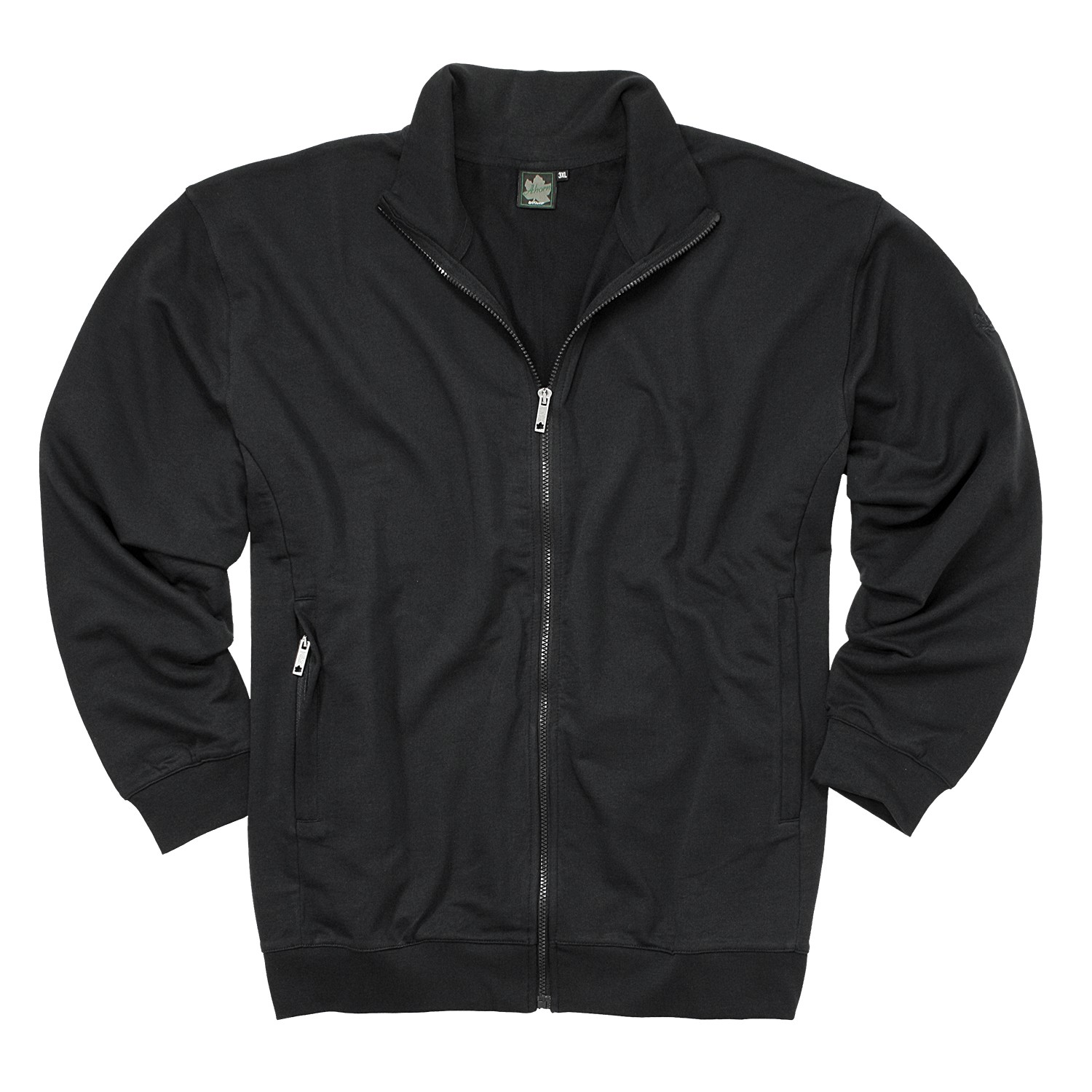 Detail Image to Sweat jacket in black by Ahorn Sportswear up to oversize 10XL