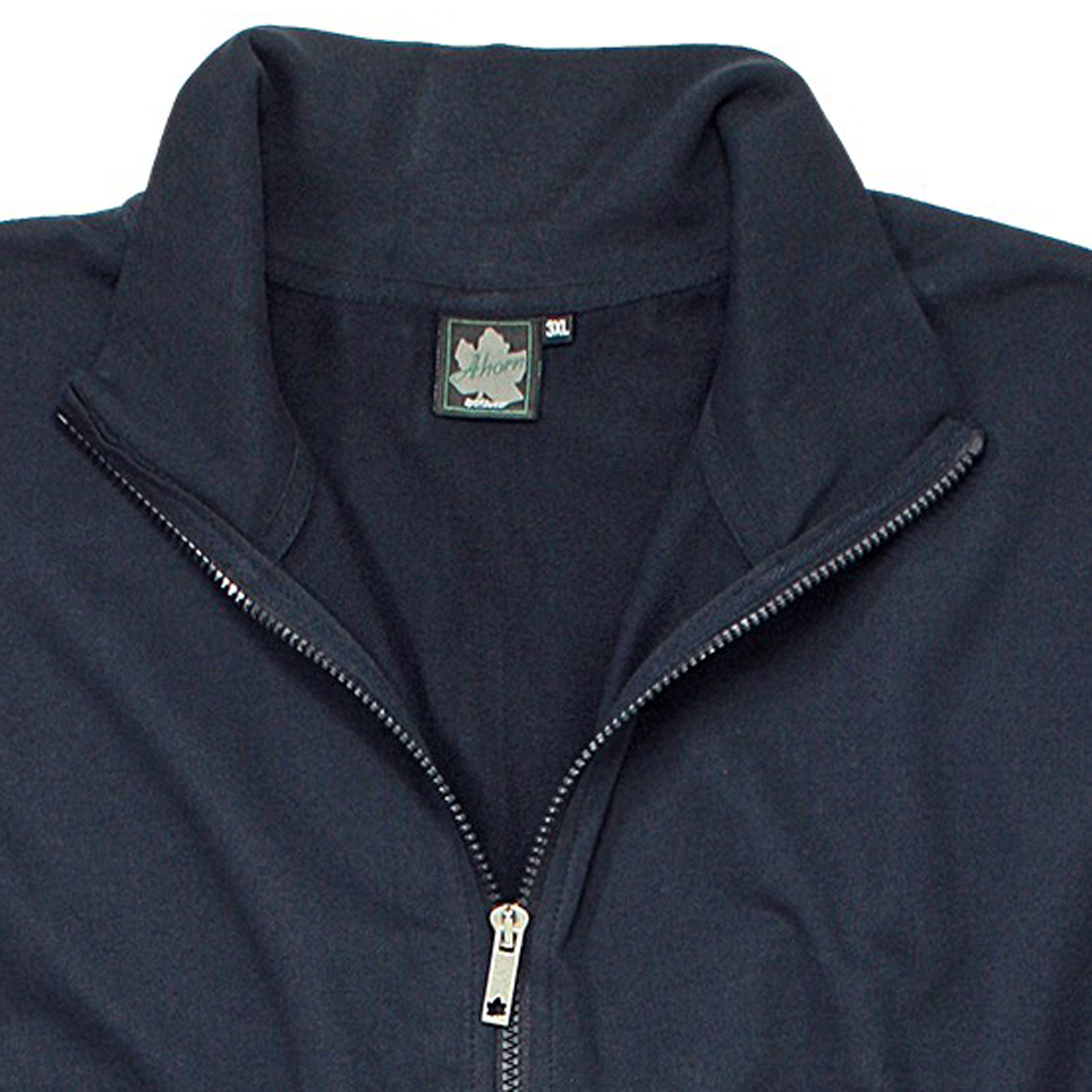 Detail Image to Black sweat jacket from Ahorn Sportswear in extra large sizes until 10 XL