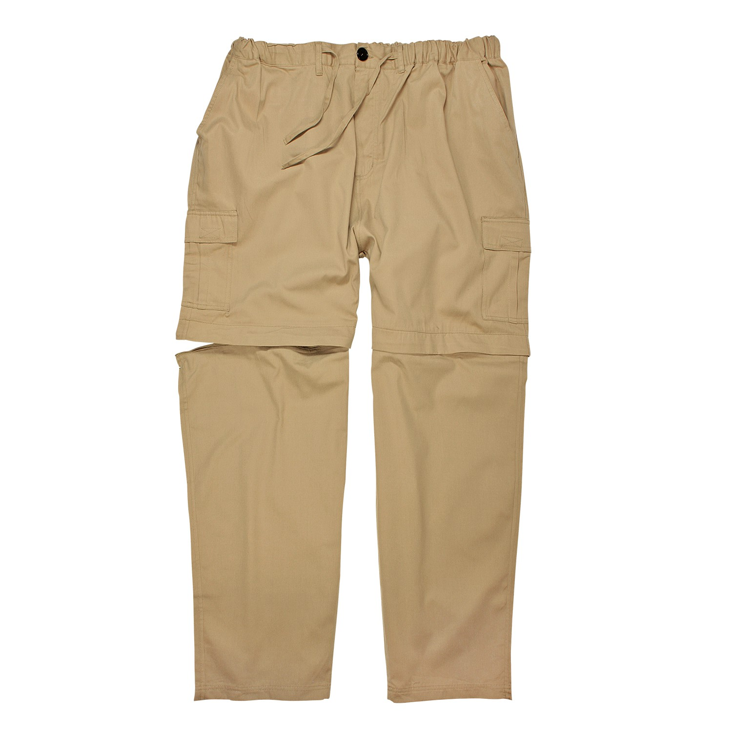 Detail Image to Zip-off-trousers by Abraxas in beige up to oversize 10XL