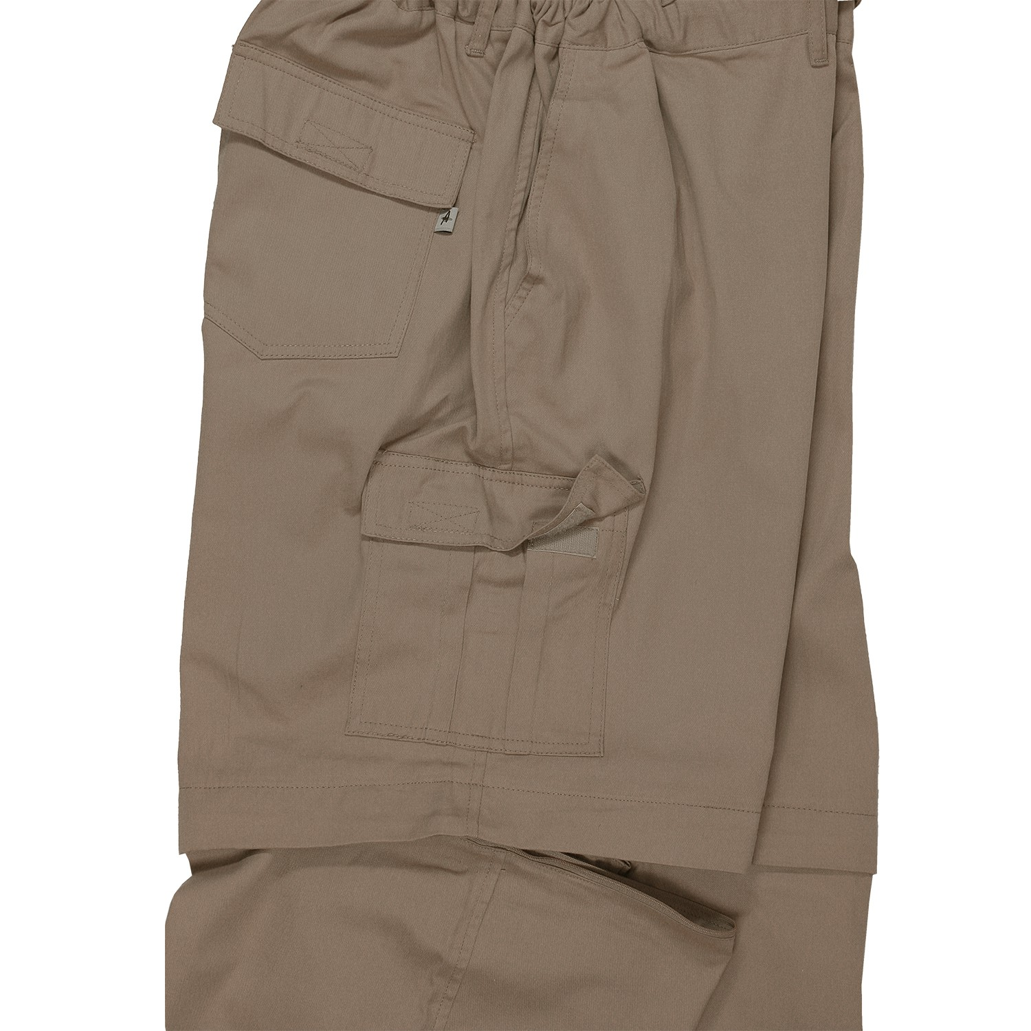 Detail Image to Khaki zip-off-trousers from Abraxas in oversizes until 10XL