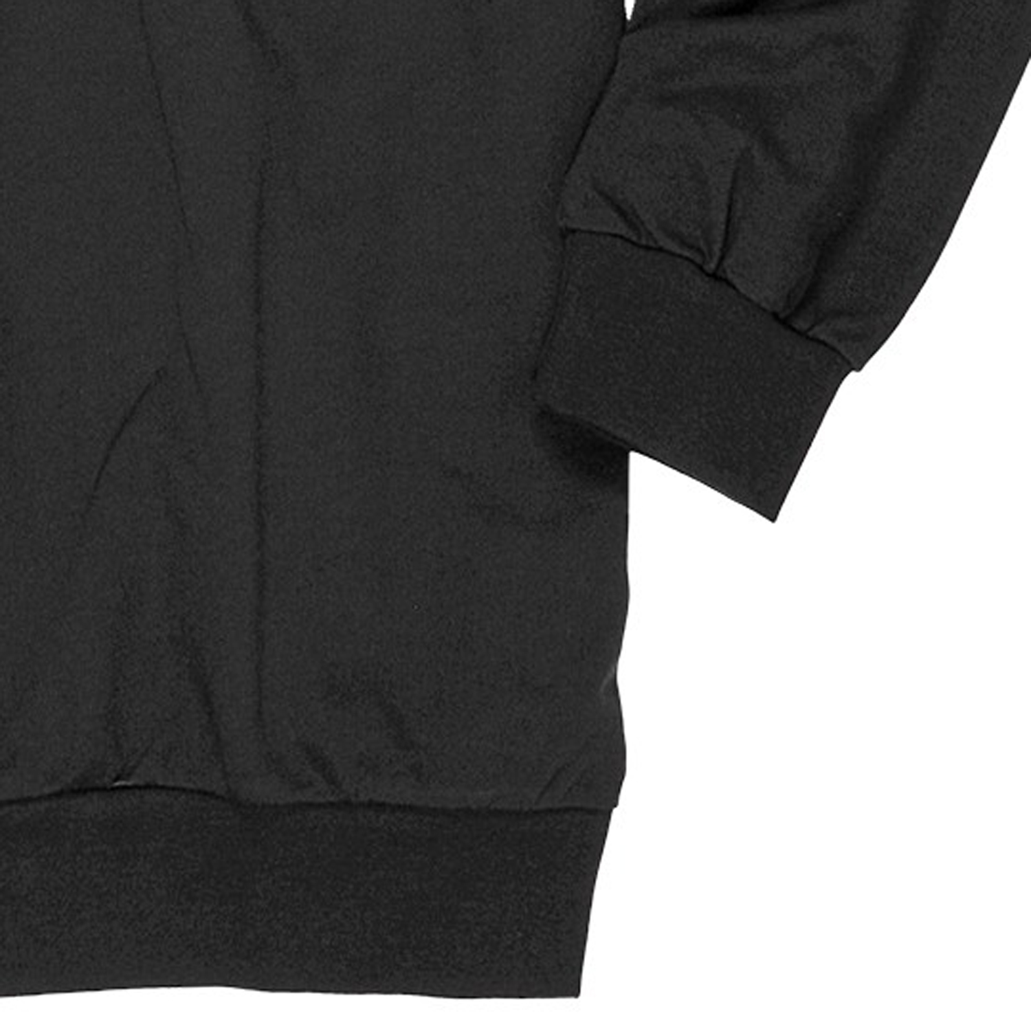 Detail Image to Sweatshirt with fine lining in black by Ahorn Sportswear up to oversize 10XL