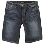 Blue denim long shorts for men by North 56°4 in oversizes up to W70