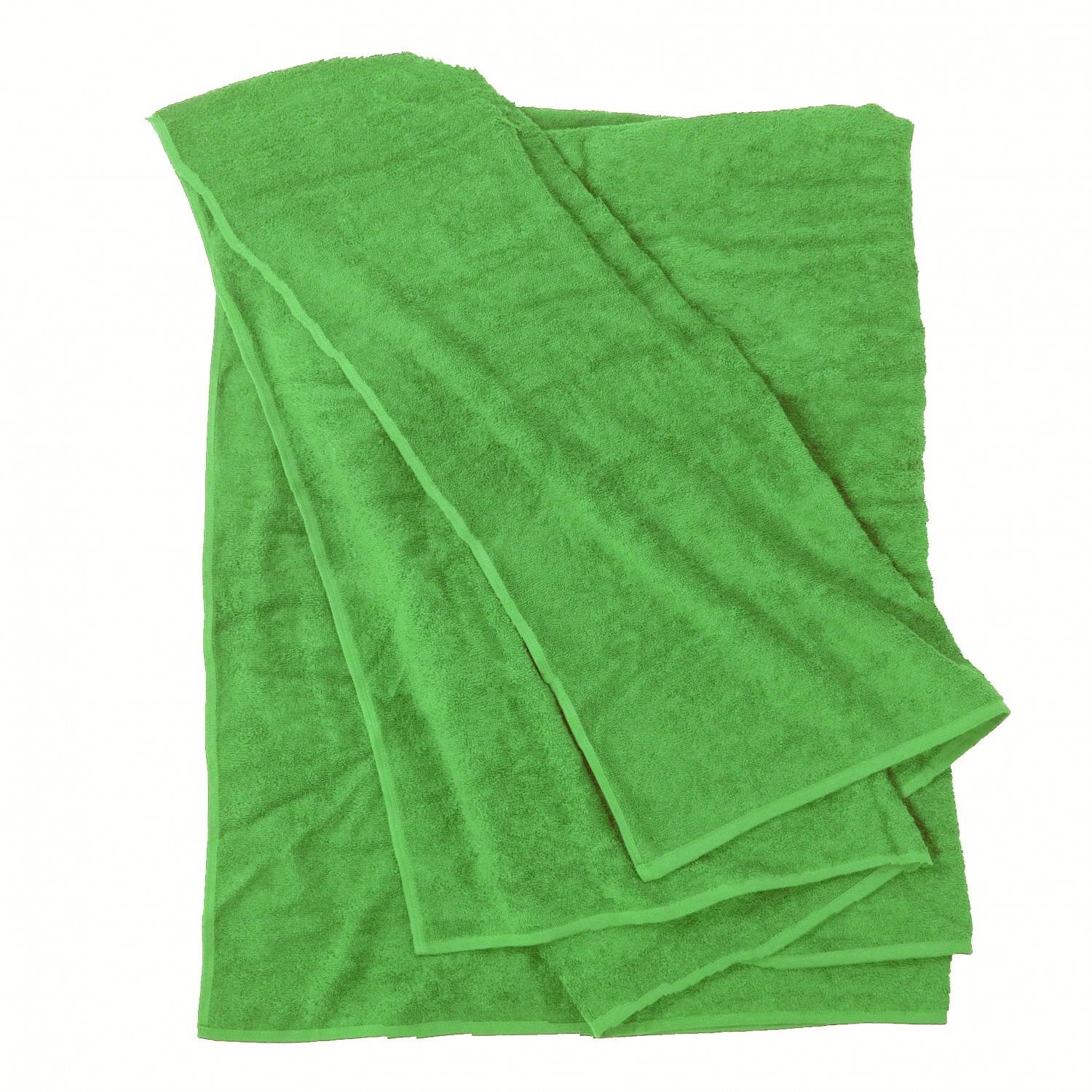Detail Image to Bath towel in light green by Kapart in large sizes 100x220 cm and 155x220 cm