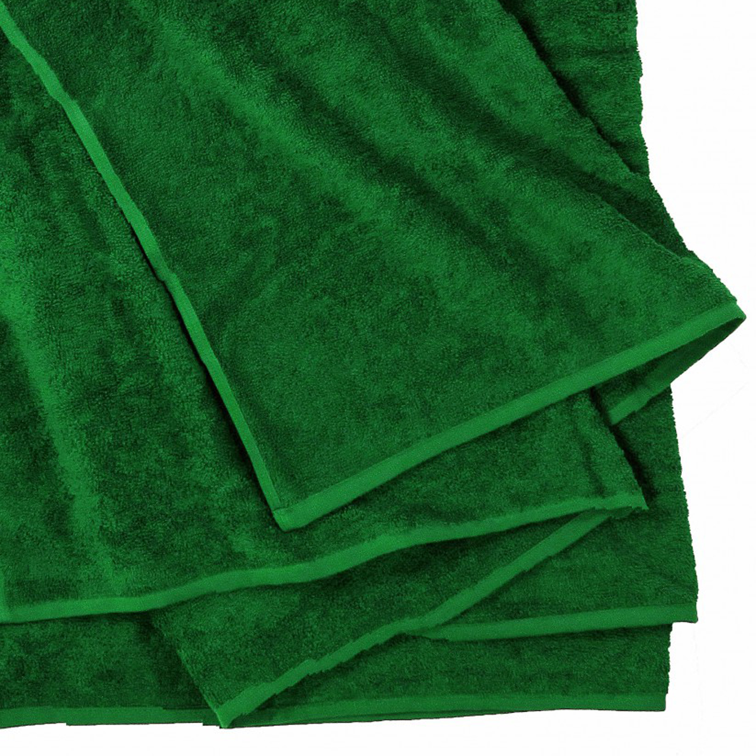 Detail Image to Bath towel in dark green by Kapart in large sizes 100x220 cm and 155x220 cm