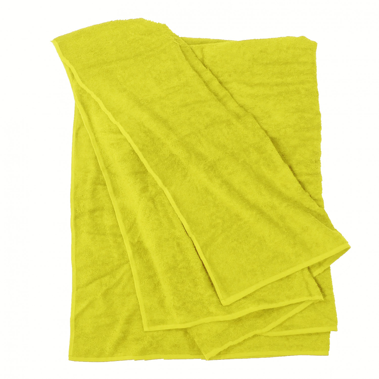 Detail Image to Bath towel in yellow by Kapart in large sizes 100x220 cm and 155x220 cm