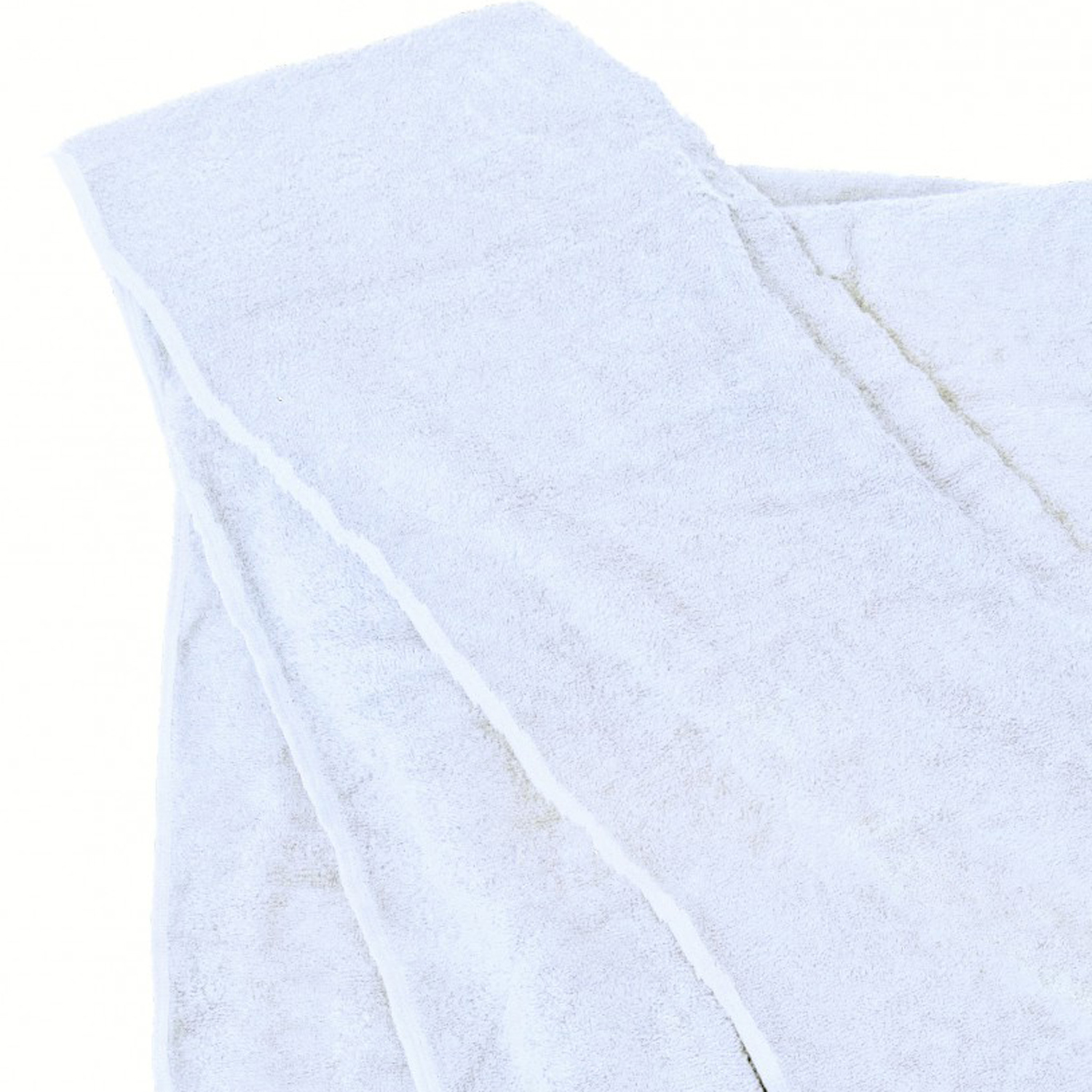Detail Image to Bath towel in white by Kapart in large sizes 100x220 cm and 155x220 cm