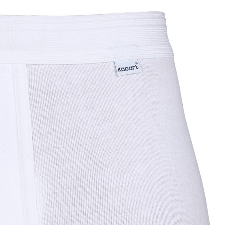Detailbild zu Weiße Feinripp Maxipant/Hose Kurz von Kapart bis Übergröße 20
