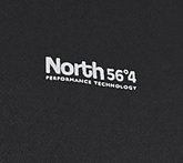 Detail Image to Black functional shirt for men from North 56°4 in oversizes up to 8XL