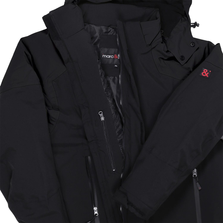 Detailbild zu Schwarze Winterjacke in Übergrößen von marc&marc bis 10XL