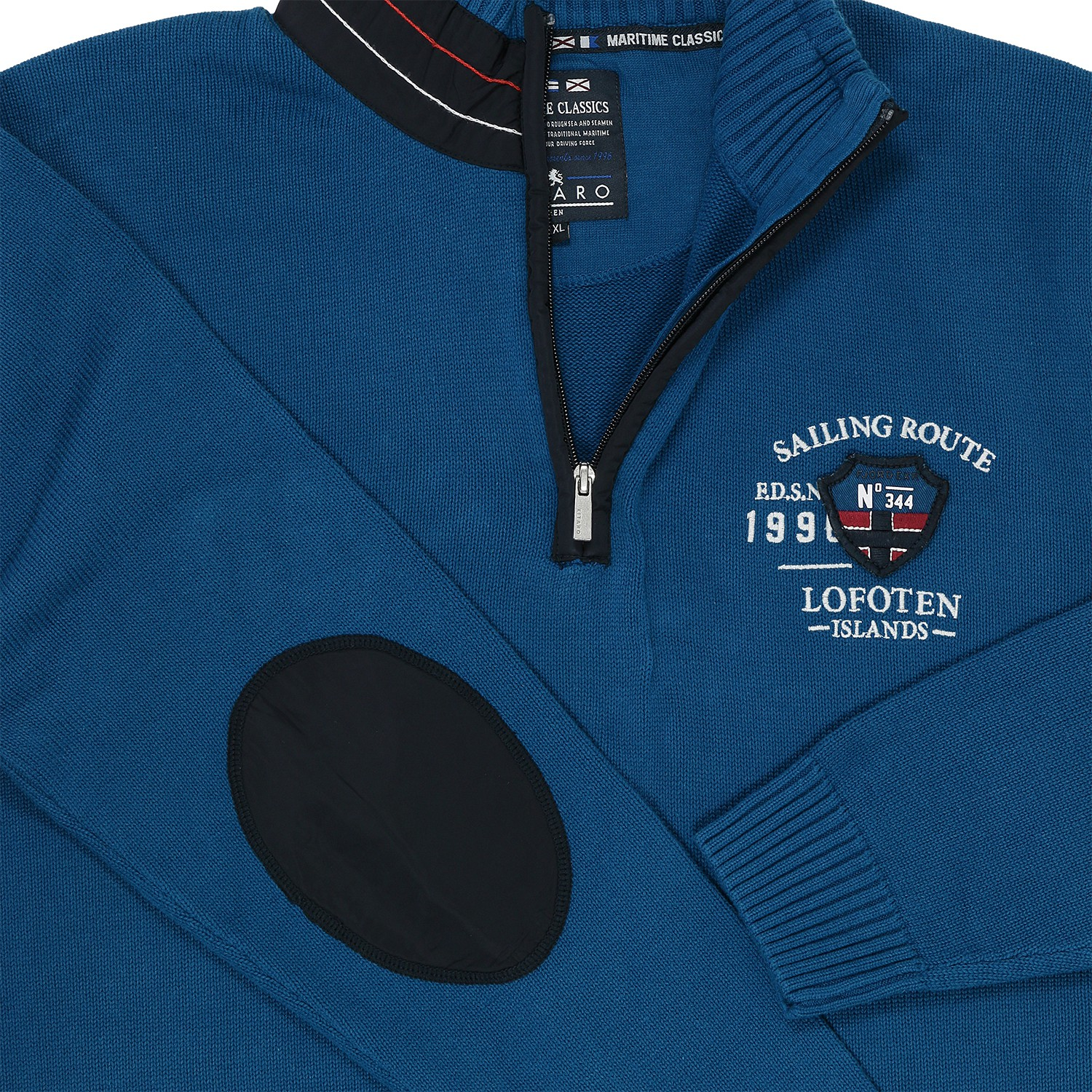 Detail Image to Pullover by Kitaro in large sizes up to 5XL - blue