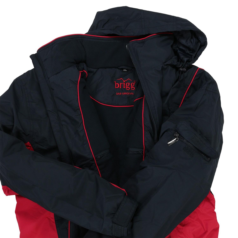 Detailbild zu Wasserdichte Jacke in Übergrößen, dunkelblau-rot von Brigg bis 14XL