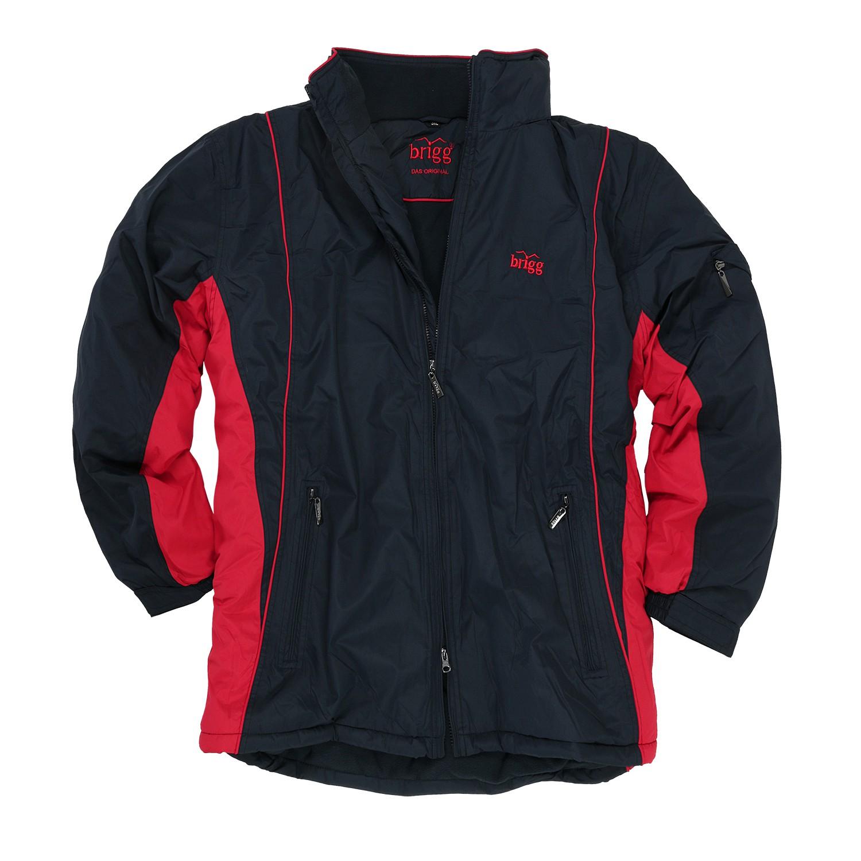 Image de détail de Veste imperméable grande taille jusqu'au 14XL de Brigg - noir/rouge