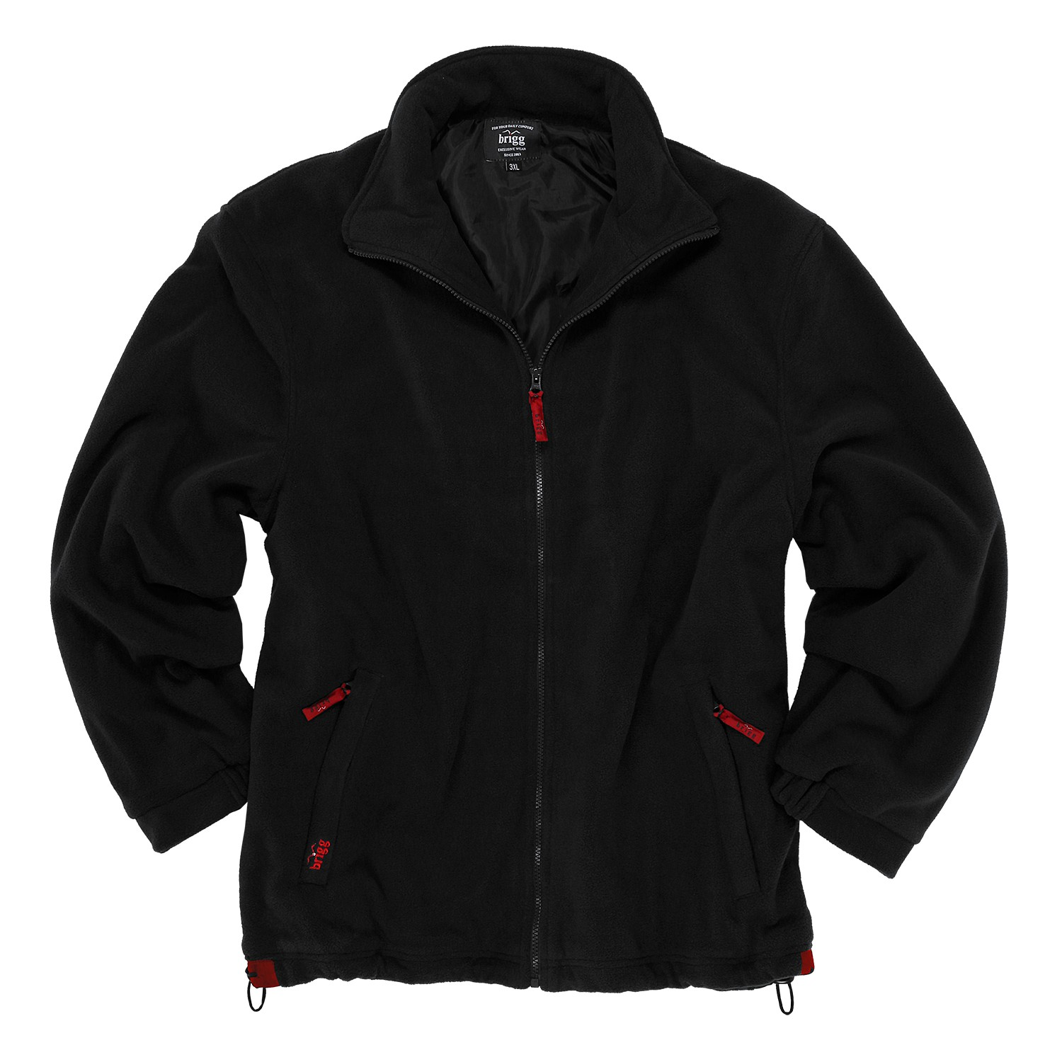 Detail Image to Fleece Jacket by Brigg, black, up to 14XL