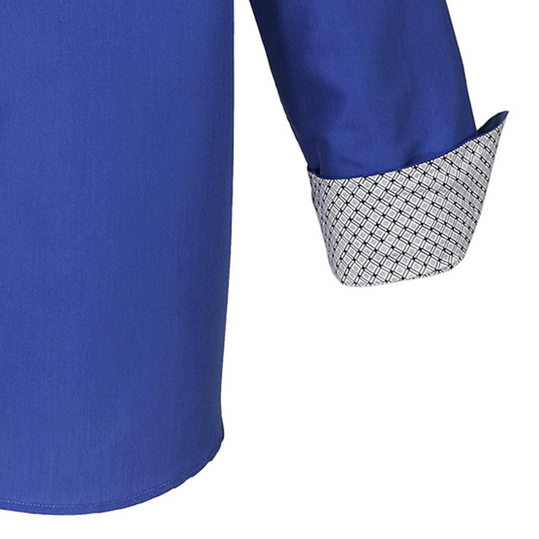 """Image de détail de Chemise bleu """"Monte Carlo"""" de Lavecchia grande taille 3XL-7XL"""