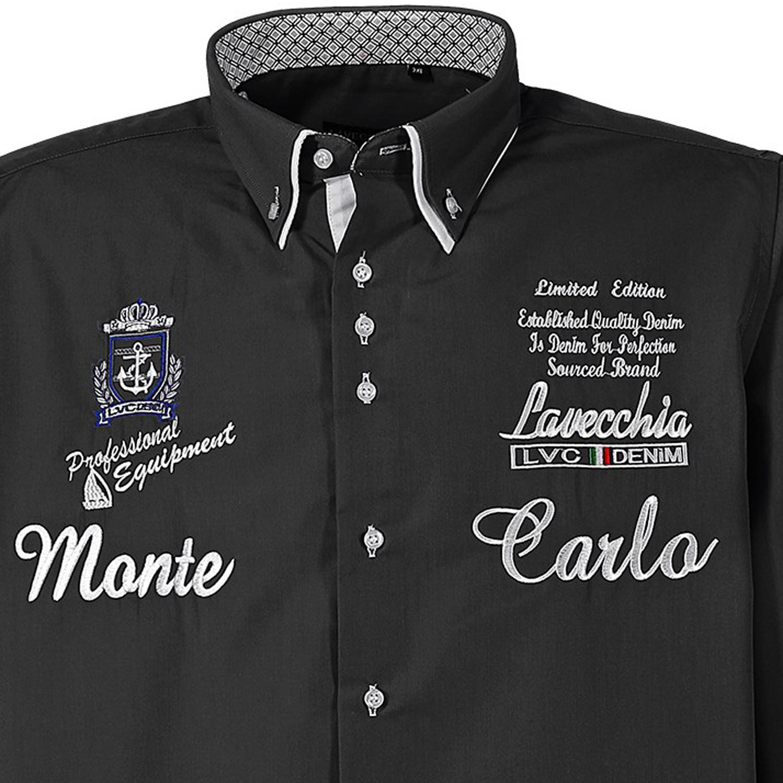 Detailbild zu Schwarzes Hemd Monte Carlo in Übergrößen von Lavecchia