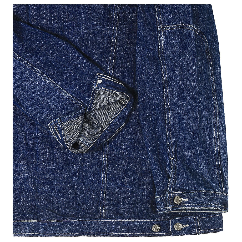 Detailbild zu Jeansjacke in blau von Big-Basics in Übergrößen von 3XL bis 8XL