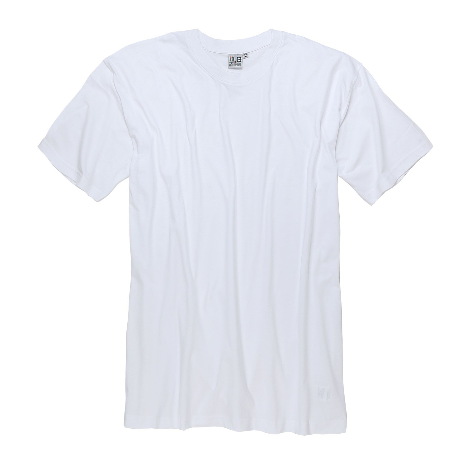 Detail Image to White double pack t-shirt by BigBasics up to kingsize 8XL