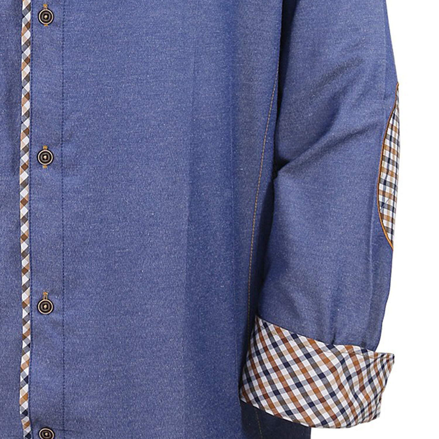 Detail Image to Lavecchia - blue shirt for men in XXL sizes available