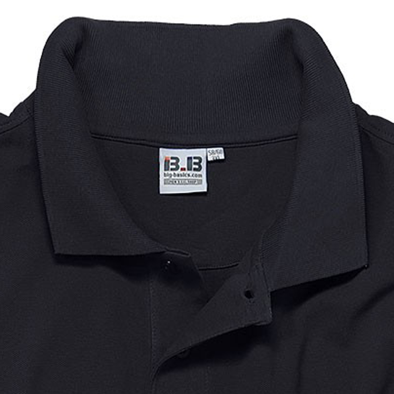 Detail Image to Black polo shirt by Big-Basics in oversizes up to 8XL