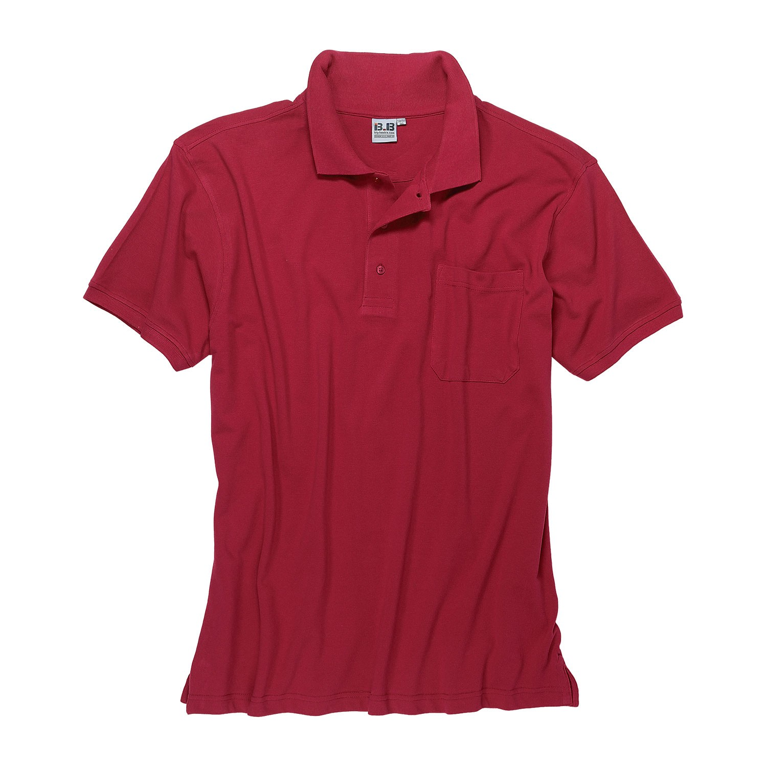 Detail Image to Red polo shirt by Big-Basics in oversizes up to 8XL