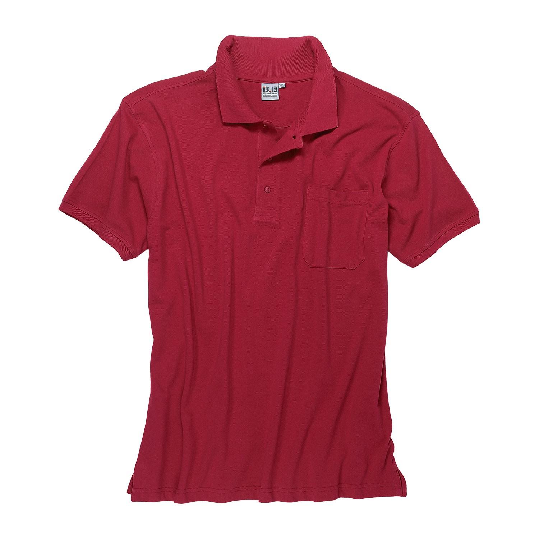 Detailbild zu Übergrößen Poloshirt in rot von Big-Basics bis 8XL