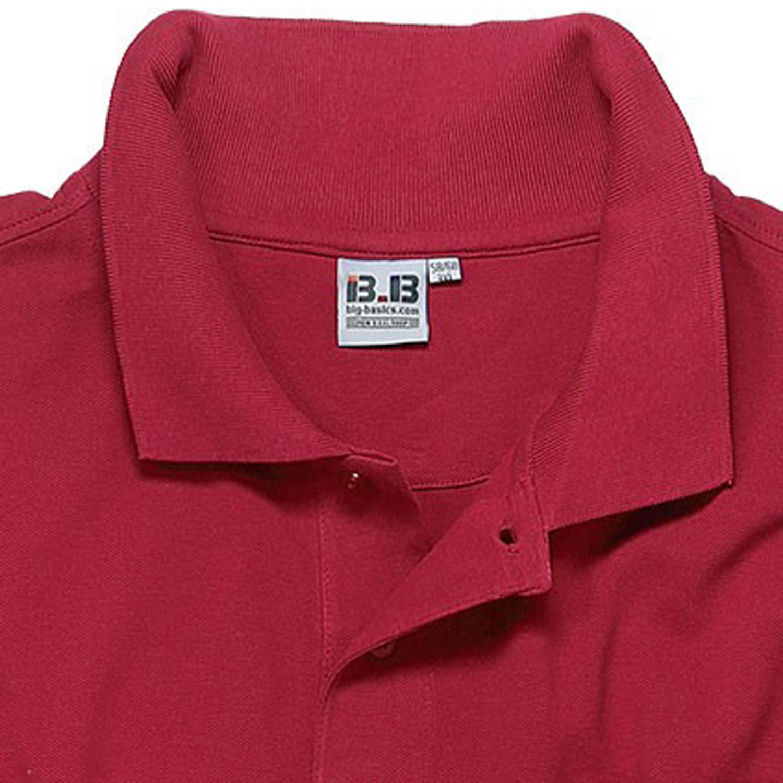 Image de détail de Polo rouge de BigBasics grandes tailles jusqu'au 8XL