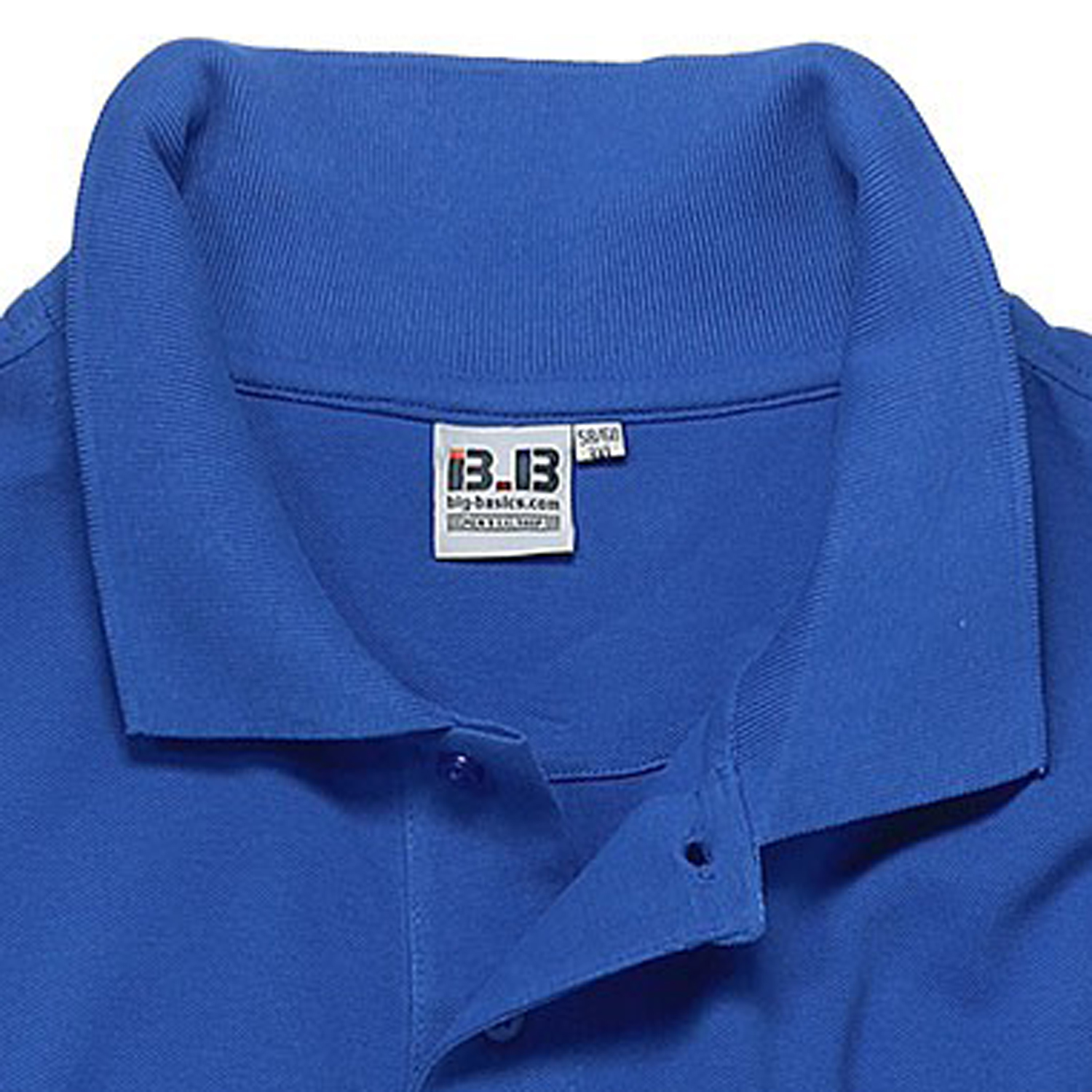 Detail Image to Blue polo shirt by Big-Basics in oversizes up to 8XL