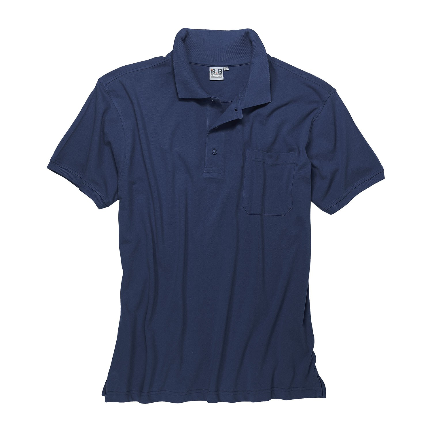 Detail Image to Darkblue polo shirt by Big-Basics in oversizes up to 8XL
