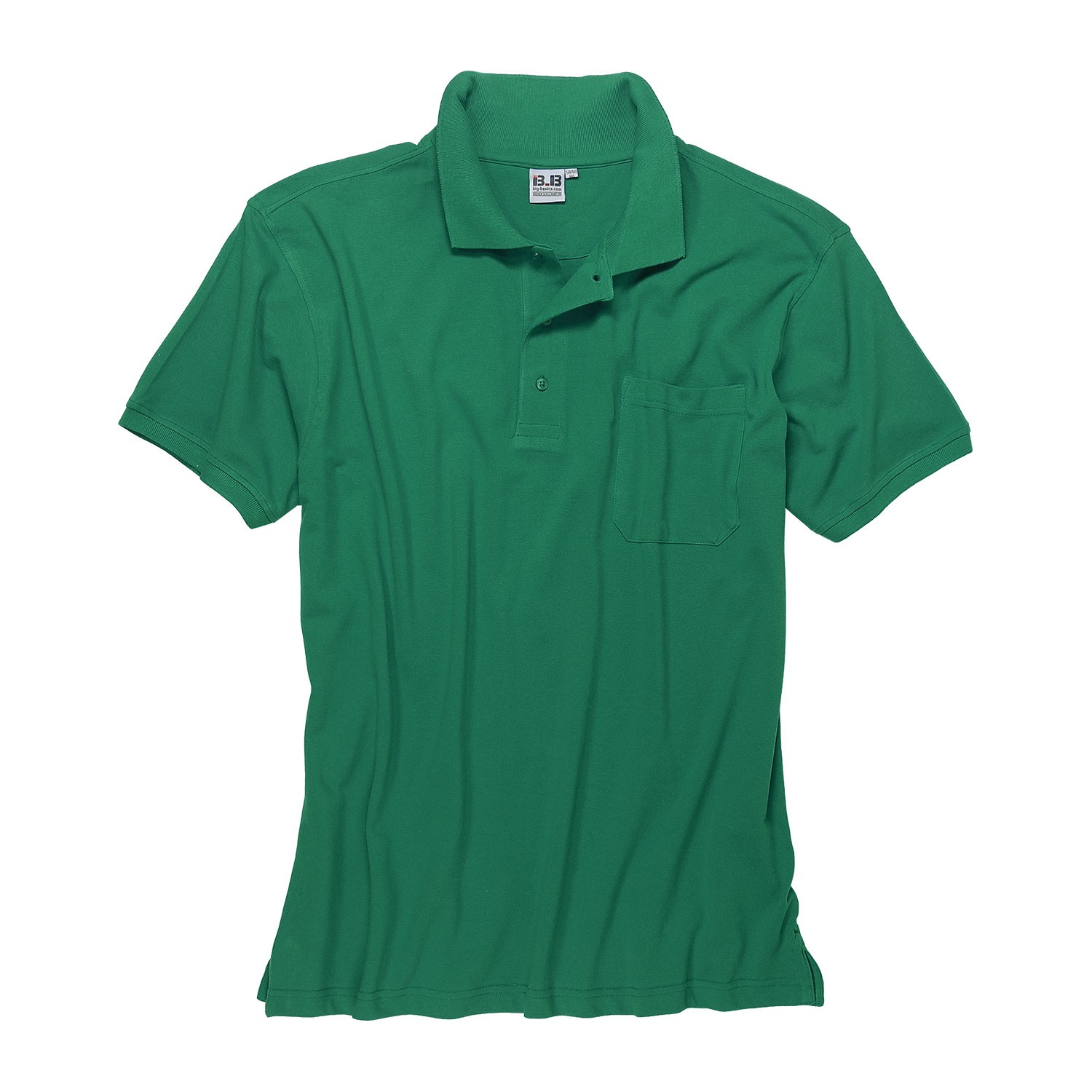 Detail Image to Green polo shirt by Big-Basics in oversizes up to 8XL
