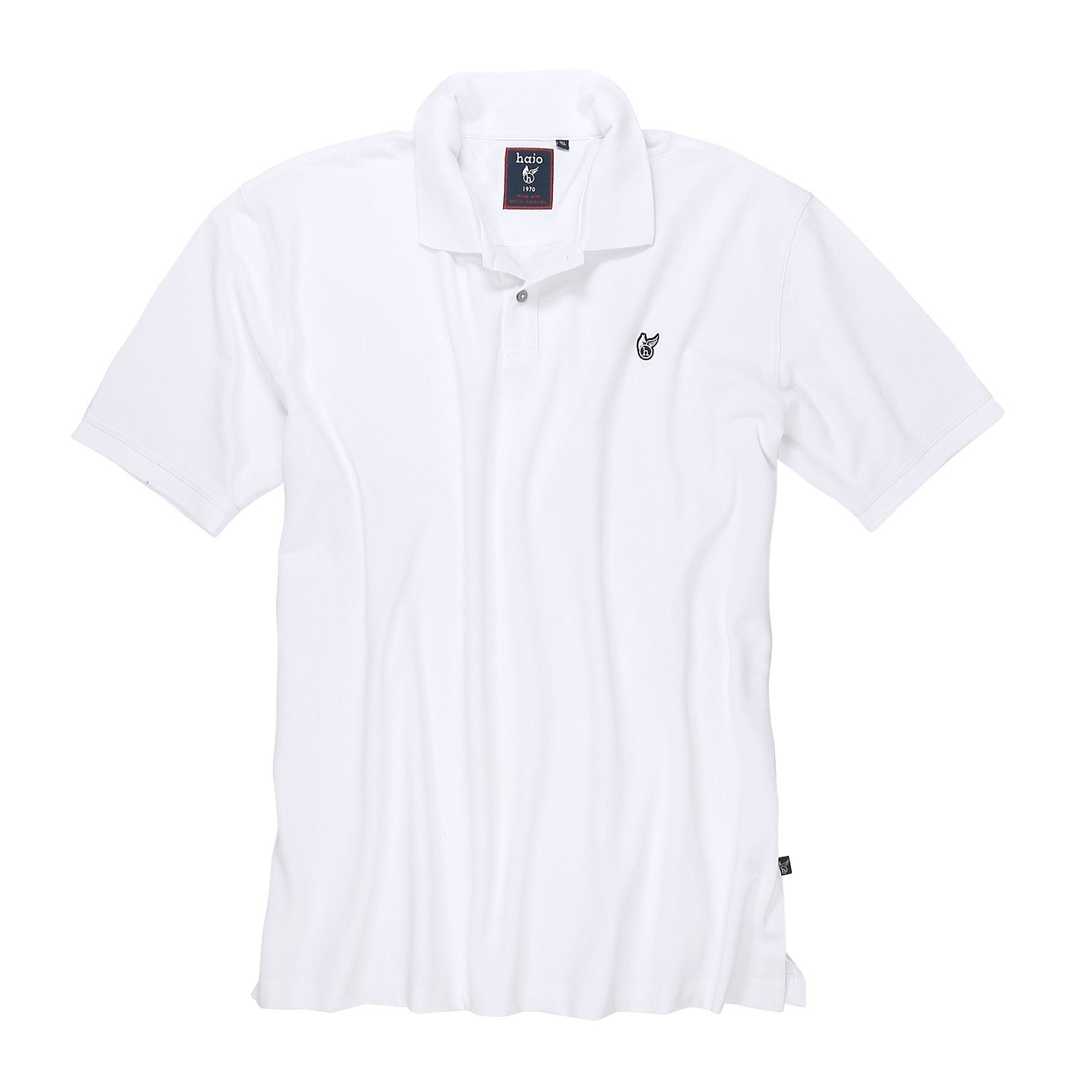 "Detail Image to Polo shirt ""stay fresh"" in white by hajo up to oversize 6XL"