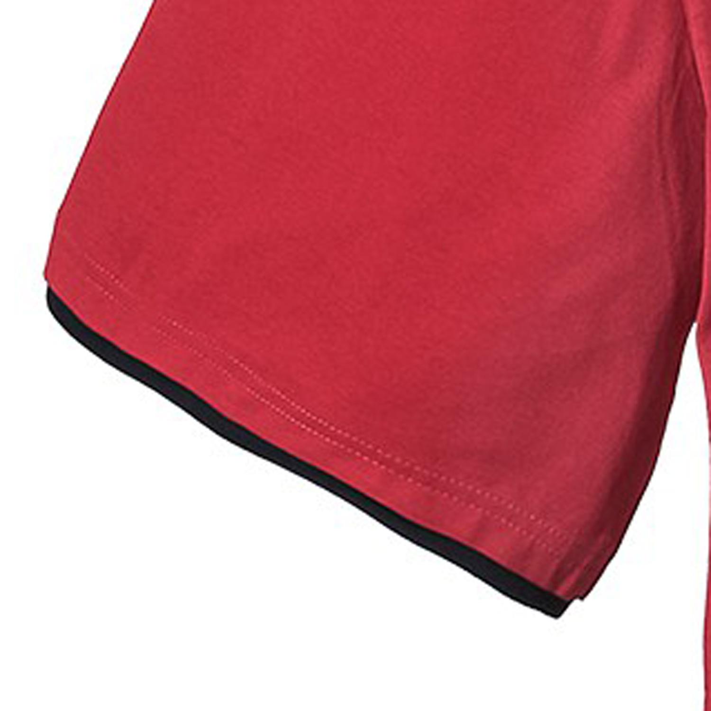 Image de détail de T-shirt rouge de Lavecchia grandes tailles jusqu'au 7XL