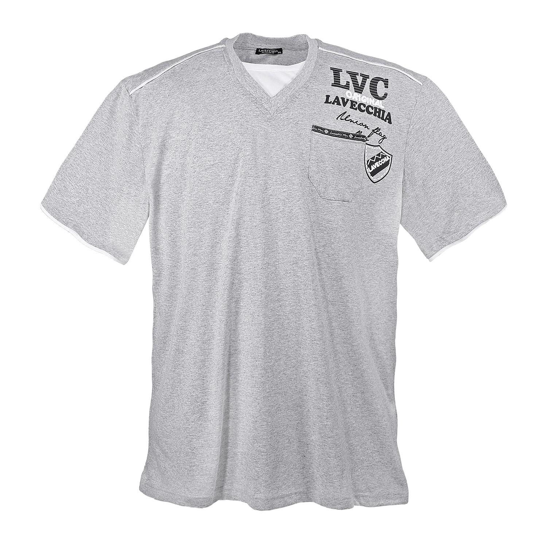 Detail Image to Black t-shirt by Lavecchia in plus sizes until 7XL