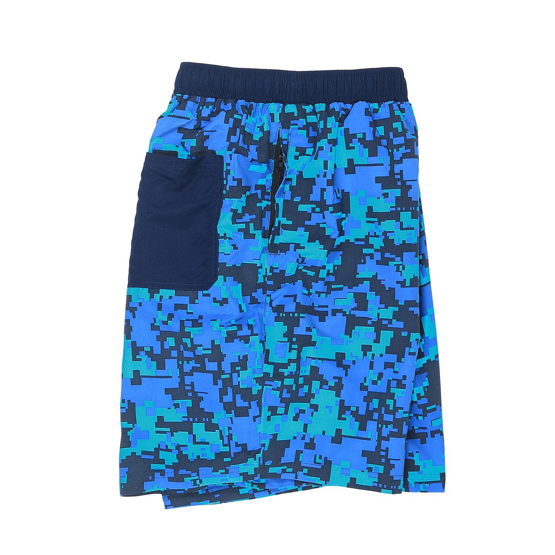 Image de détail de Short de bain bleu à motif imprimé by Abraxas // grandes tailles jusqu'au 10XL