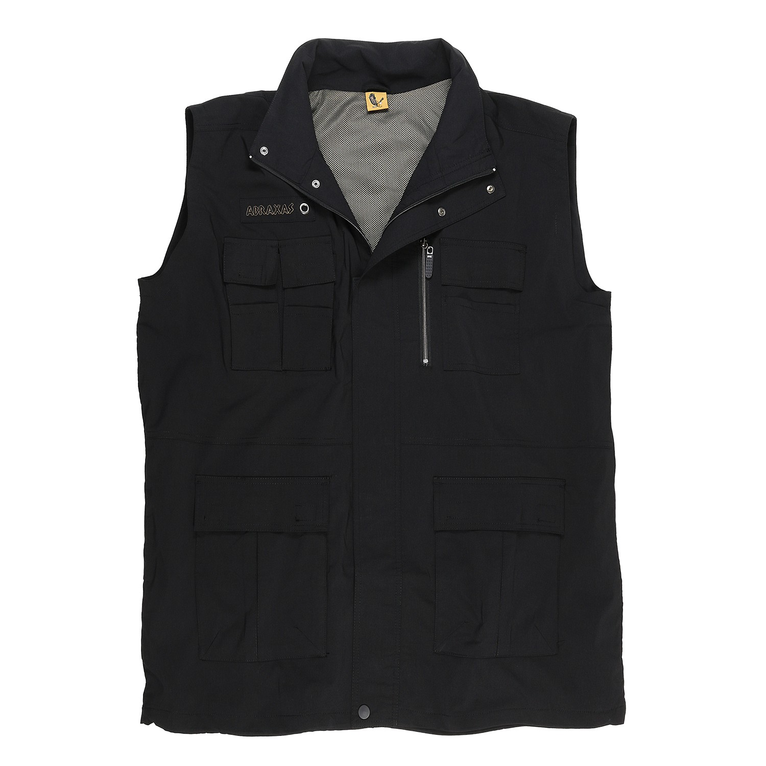Detail Image to Black outdoor vest by Abraxas in oversizes up to 10XL